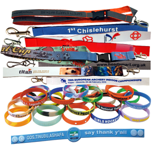 Lanyards, Silicon Bracelets, Event Credentials HP