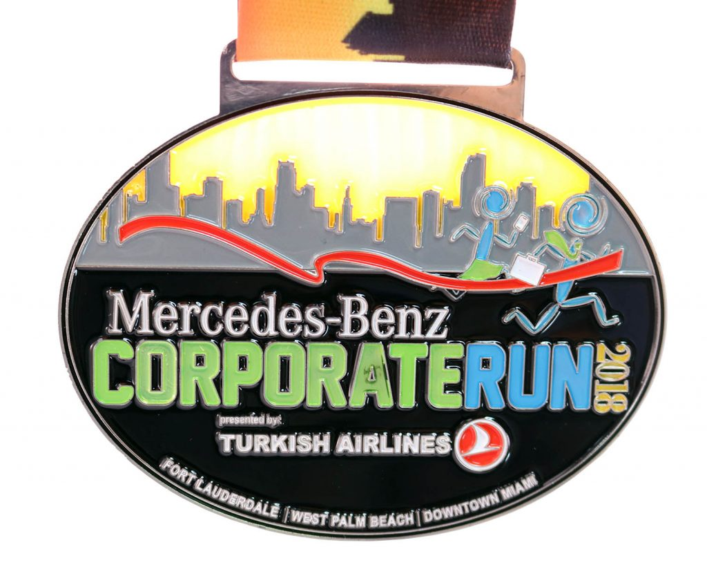 2018 CORPORATE RUN TRANSLUCENT MEDAL