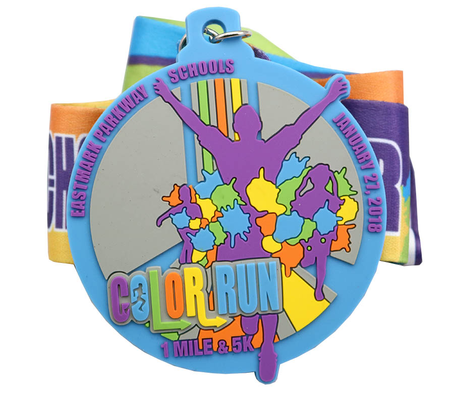 COLOR RUN PVC MEDAL