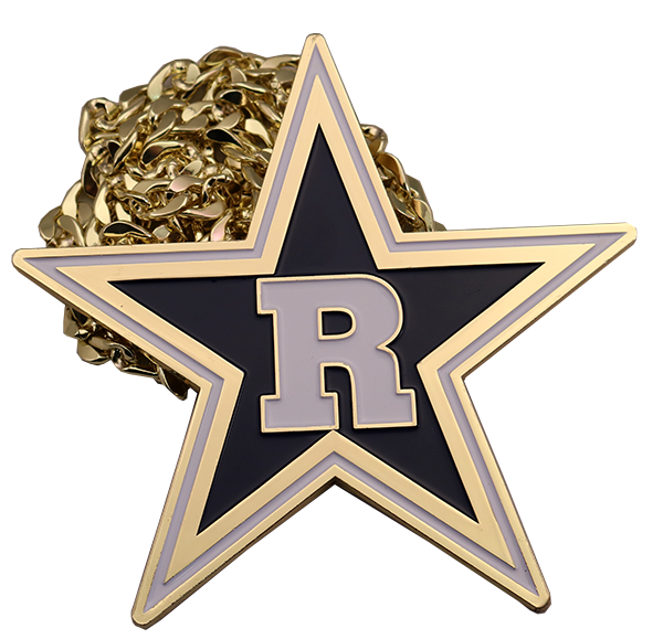 R STAR WITH METAL CHAIN