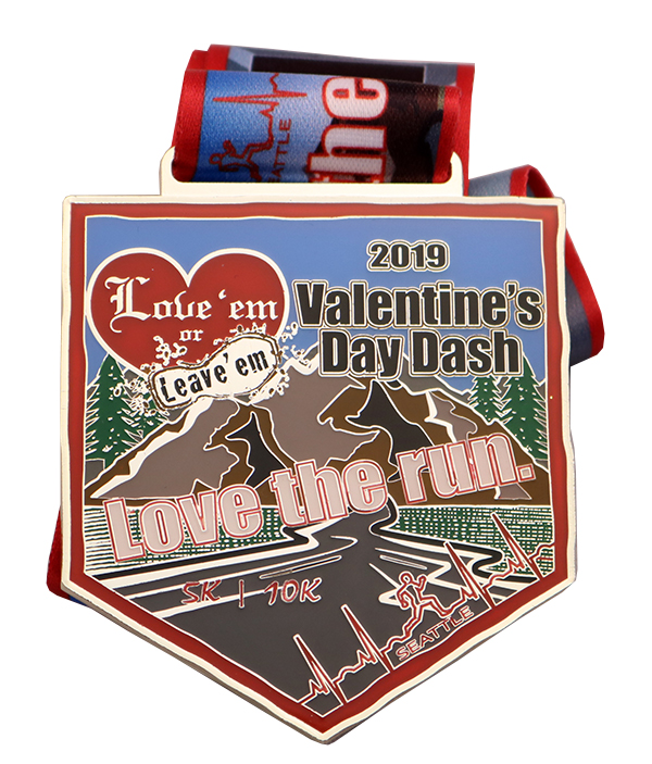 V-DAY DASH MEDAL