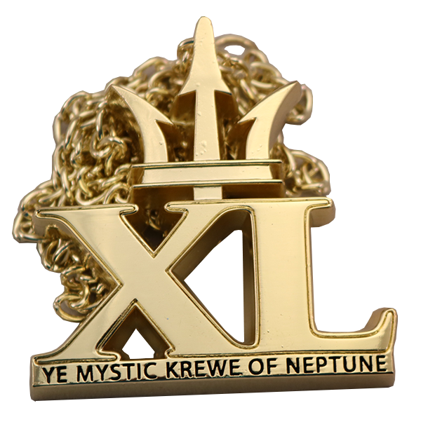 XL MEDAL WITH CHAIN