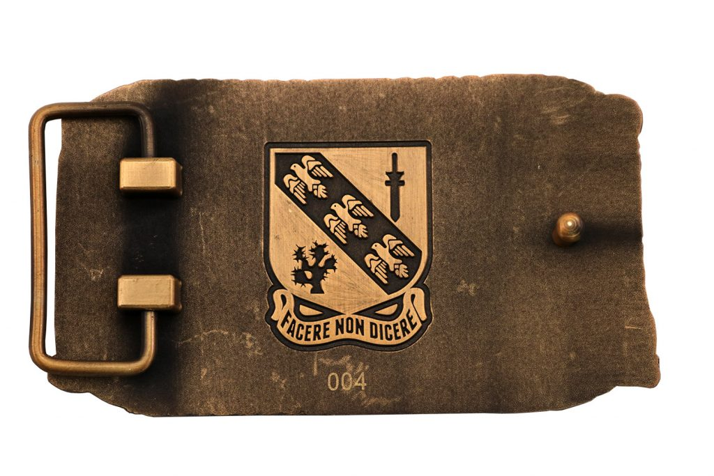 BLACK HORSE TROOP BELT BUCKLE back