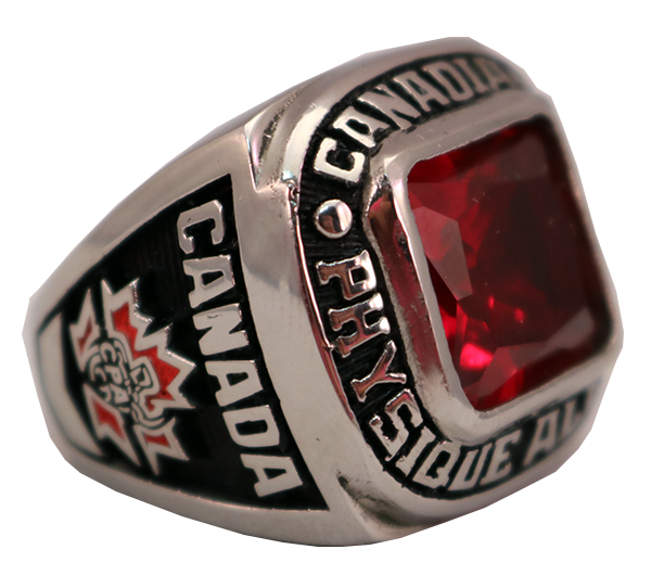 CANADIAN RED STONE RING 1