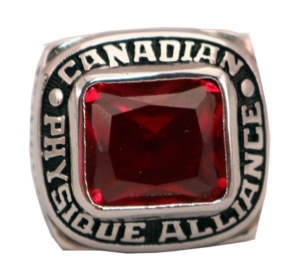 CANADIAN RED STONE RING