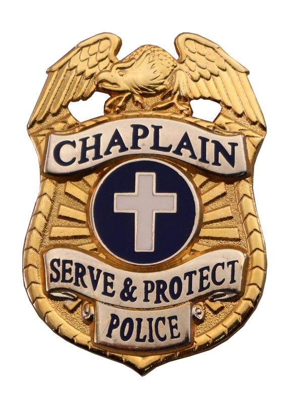 CHAPLAIN POLICE BADGE