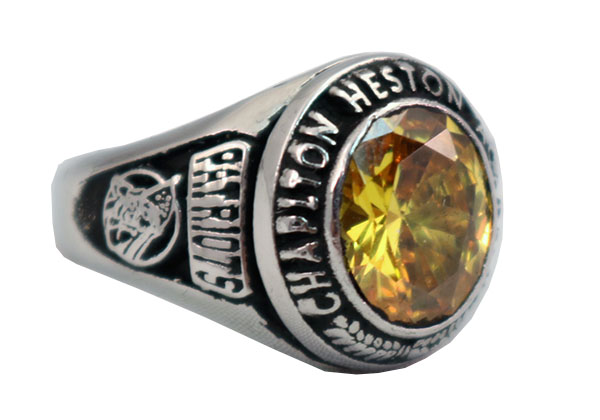 CHAPLTON HIGH SCHOOL RING TOPAZ STONE 1