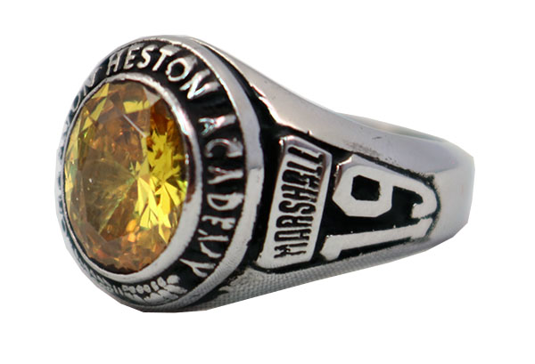 CHAPLTON HIGH SCHOOL RING TOPAZ STONE 2