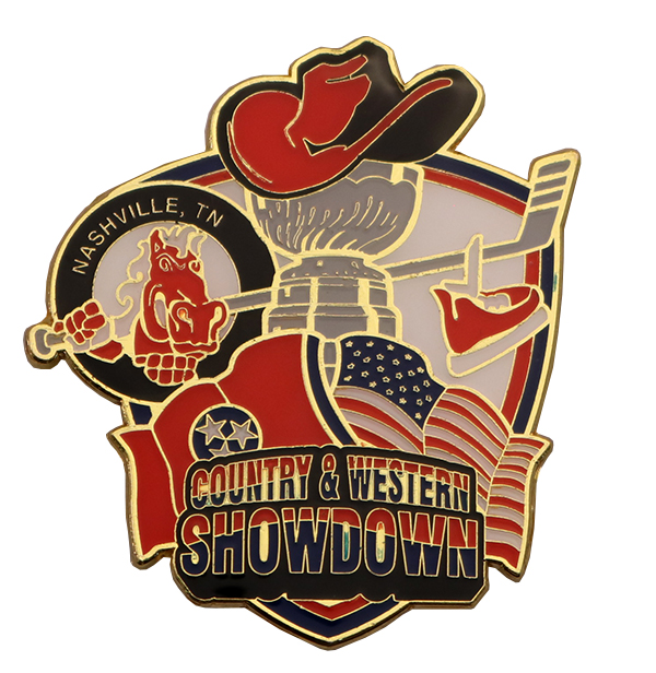 COUNRTY & WESTERN SHOWDOWN PIN