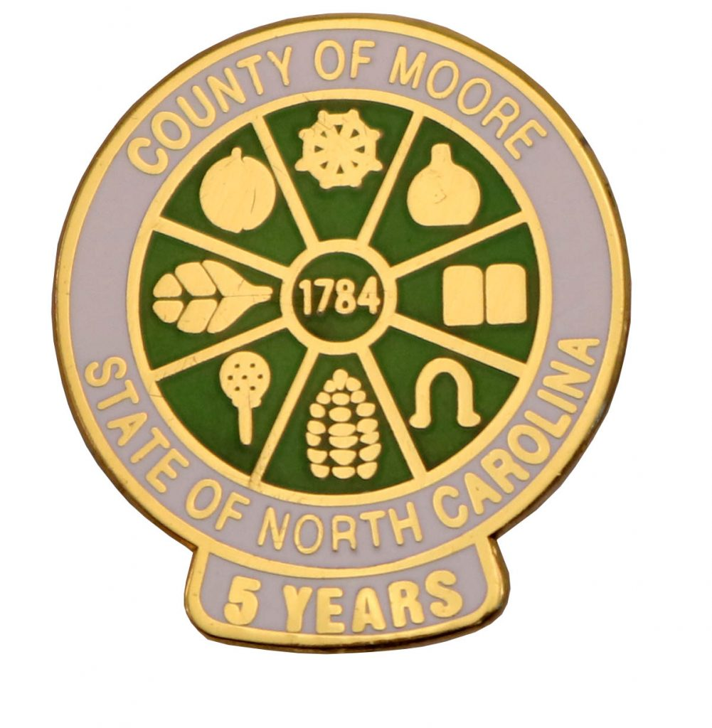 COUNTY OF MOORE PIN