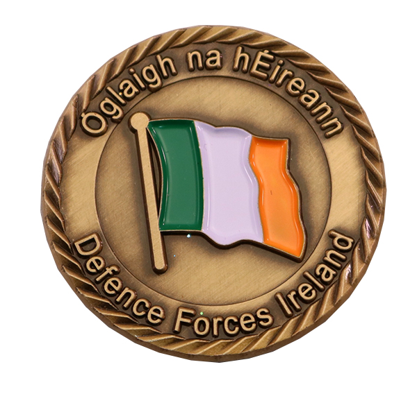 DEFENCE FORCES IRELAND COIN FRONT