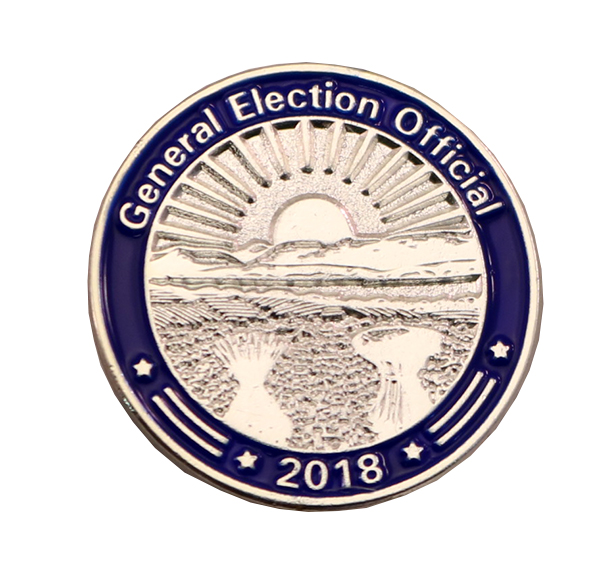 GENERAL ELCTION OFFICIAL PIN