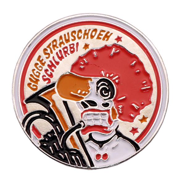 GUGGE STRAUSCHOEH SCHLURB PIN