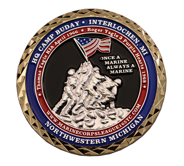 HQ CAMP BUDAY COIN FRONT