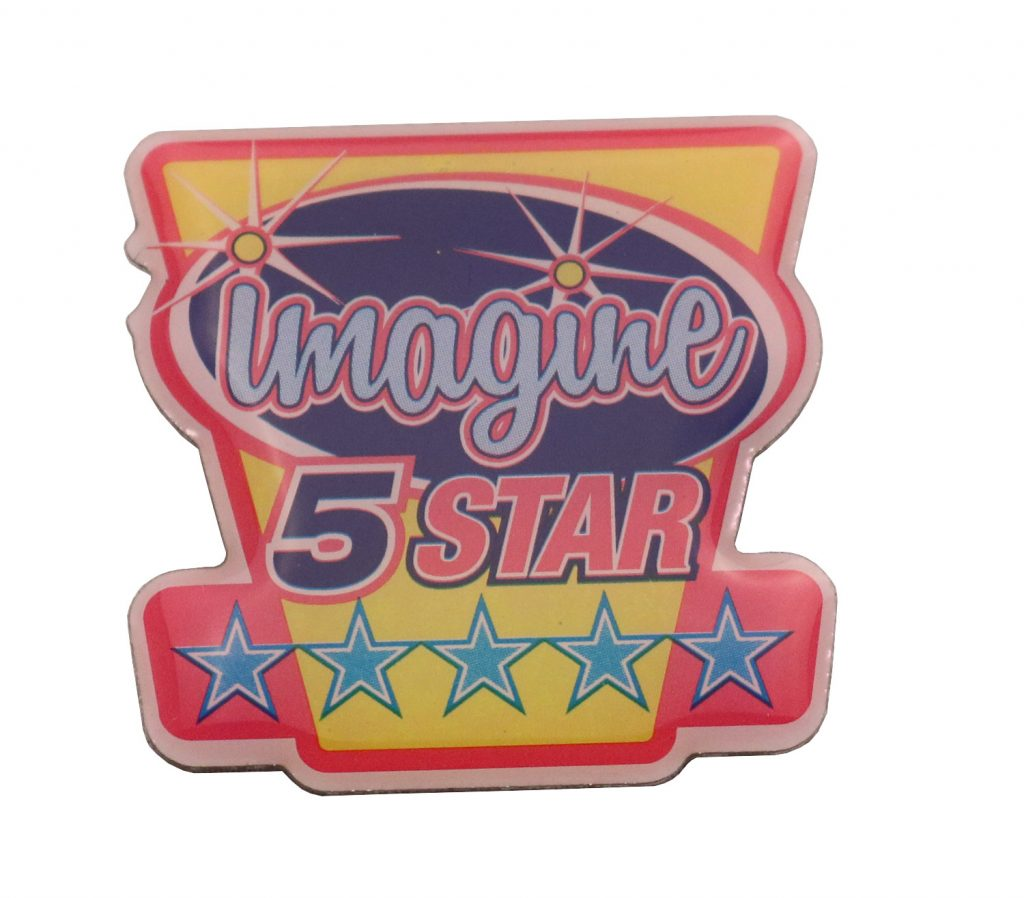 IMAGINE 5 STAR PIN SCREEN PRINT