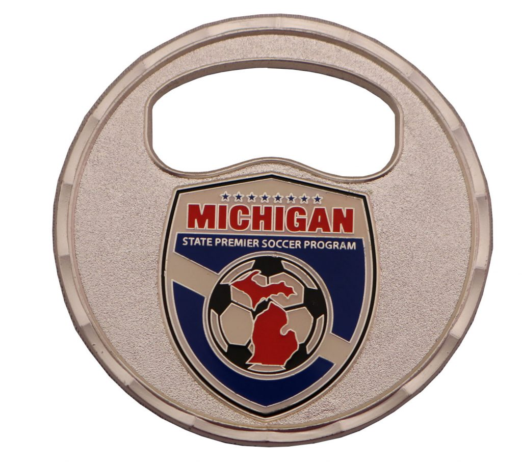 MICH BOTTLE OPENER COIN FRONT