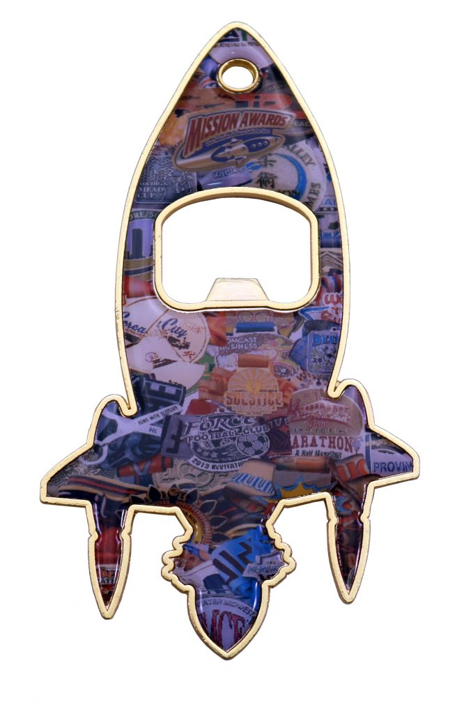 MISSION AWARDS ROCKET BOTTLE OPENER
