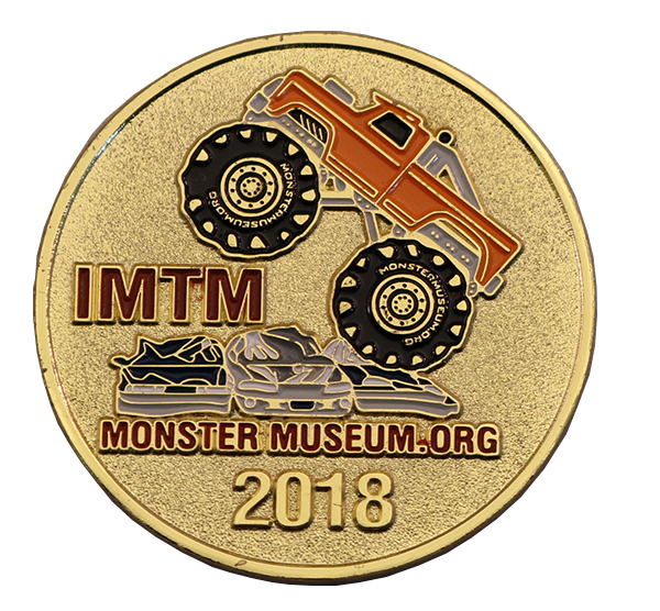 MONSTER MUSEUM TRUCK COIN BACK