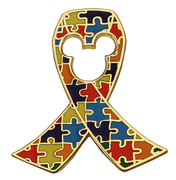 PUZZLE RIBBON PIN