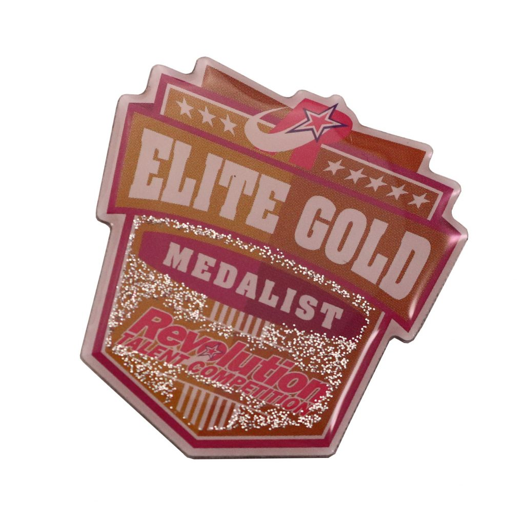 REVOLUTION ELITE GOLD PIN SCREEN PRINT