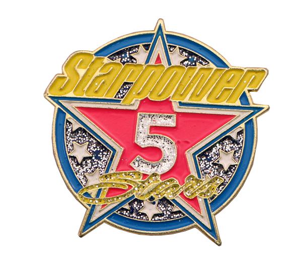STARPOWER 5 STARS PIN