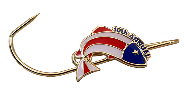 TIGHT LINES FOR TROOPS HAT PIN