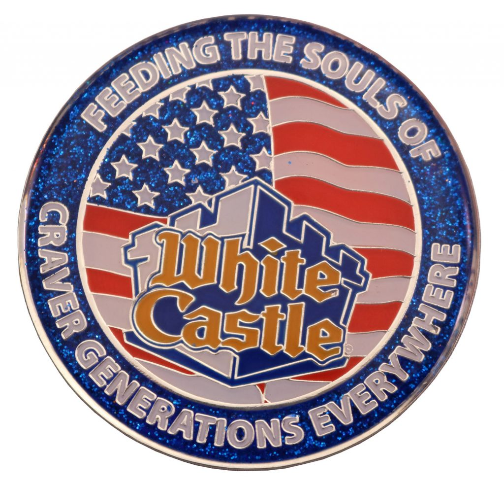 WHITE CASTLE COIN GLITTER BACK