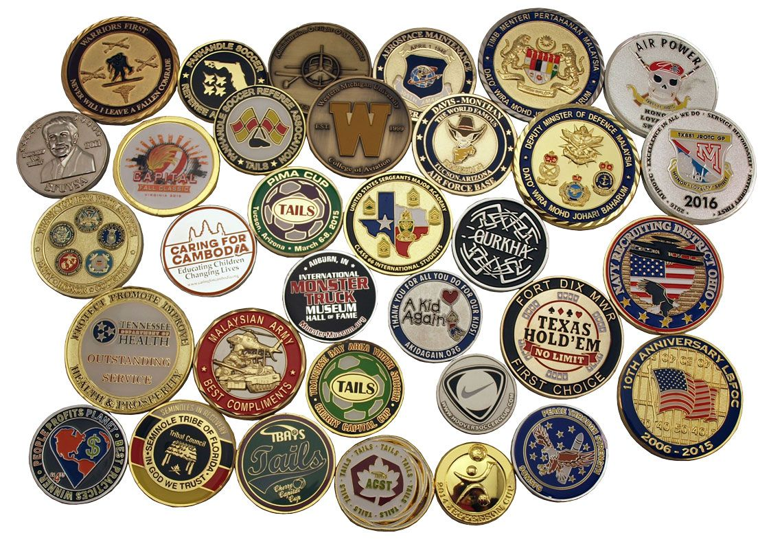Custom Coins - Referee Flip & Military Challenge Coins