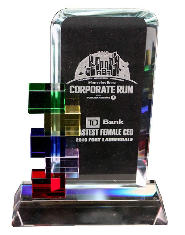 CORPORATE FUN GLASS AWARD