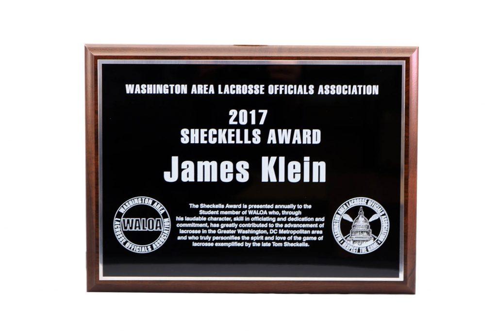2017 SHECKELLS AWARD UV PRINT