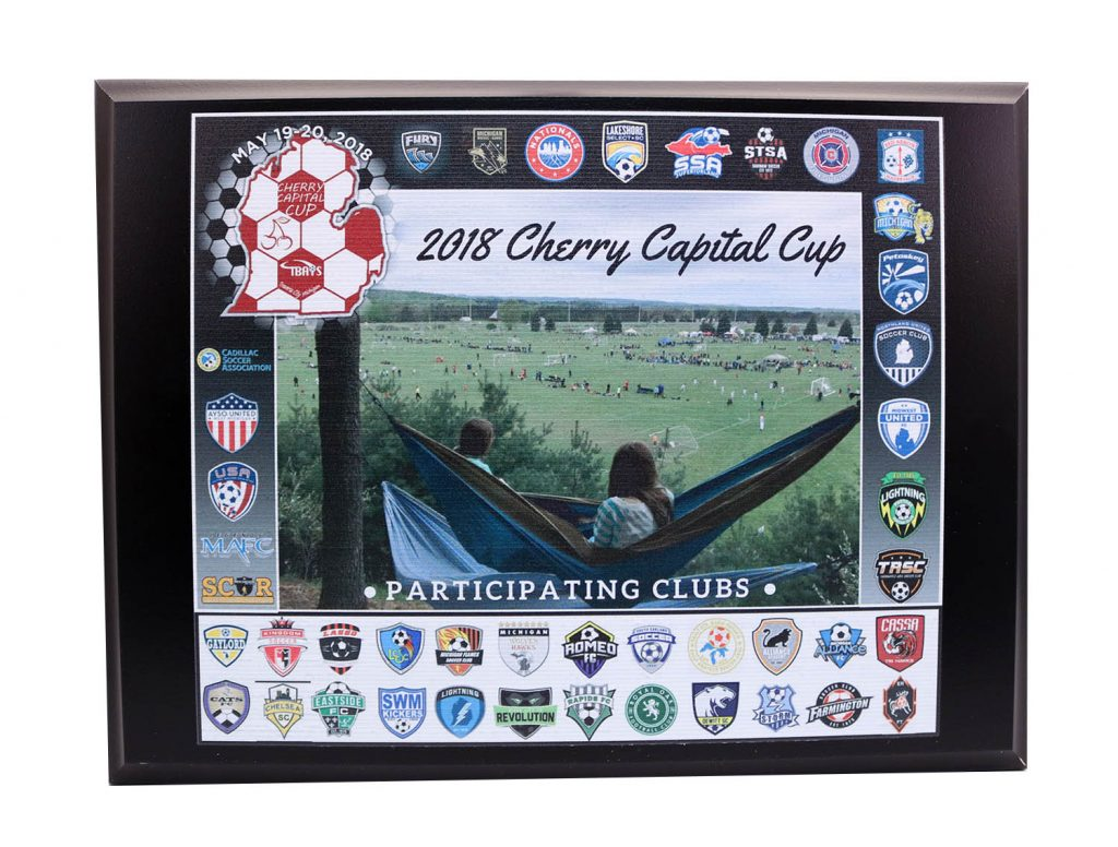 2018 CHERRY CAPITAL CUP UV PRINT PLAQUE