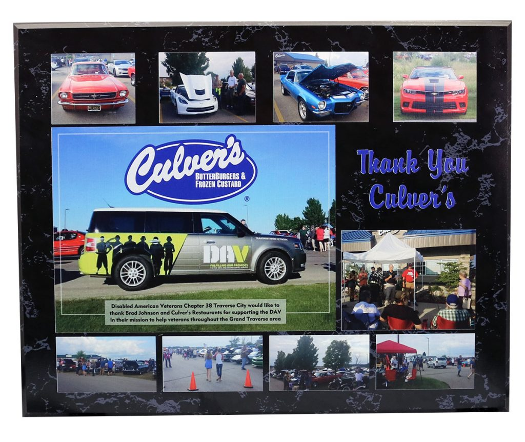 2018 CULVERS THANK YOU PLAQUE