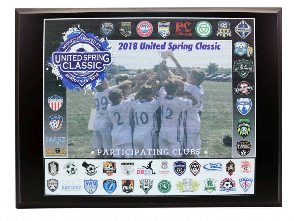 2018 UNITED SPRING CLASSIC UV PRINT PLAQUE