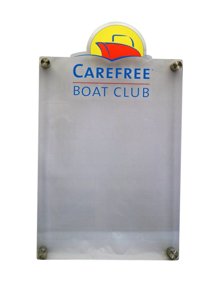 CAREFREE BOAT CLUB UV PRINT PLAQUE