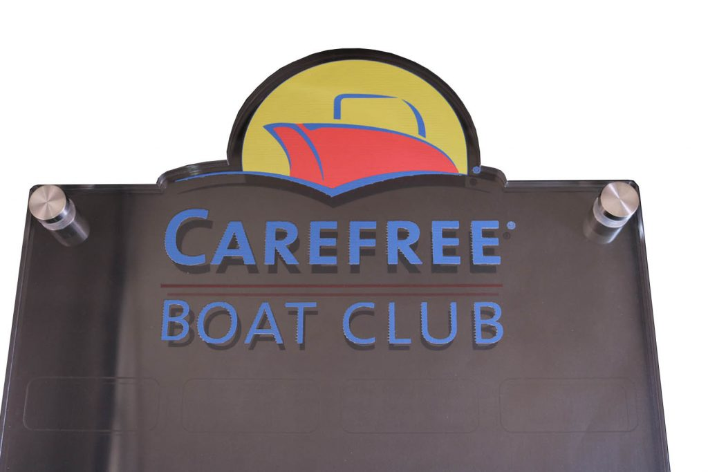 CAREFREE BOAT CLUB UV PRINT PLAQUE TOP