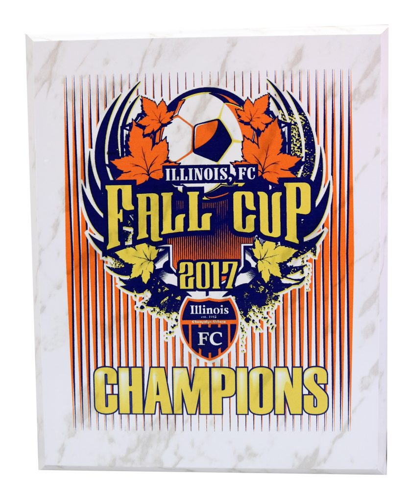 UV PRINT 2017 FALL CUP PLAQUE