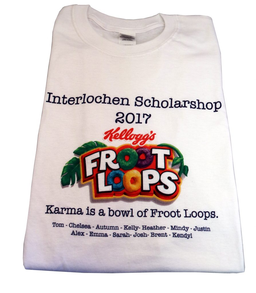 UV PRINT INTERLOCHEN SCHOLARSHOP 2017 SHIRT