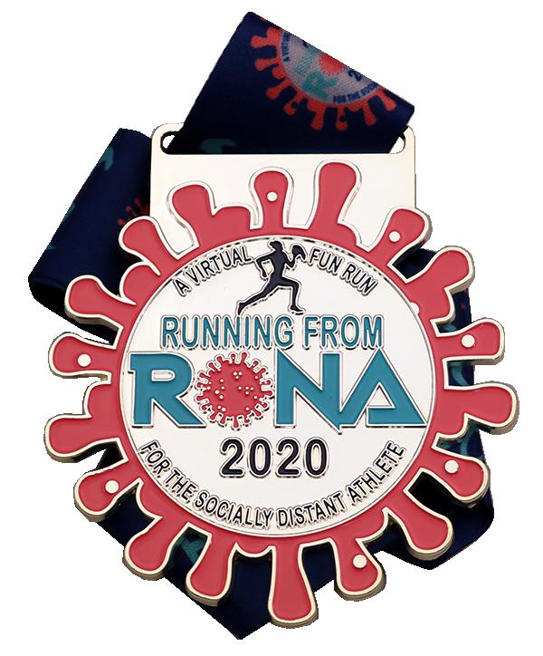 RUNNING FROM ROMA MEDAL